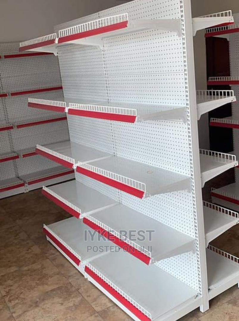 Double Sided Supermarket Shelf