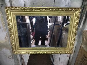 Wall Rectangular Frame Mirror Gold   Home Accessories for sale in Lagos State, Lekki