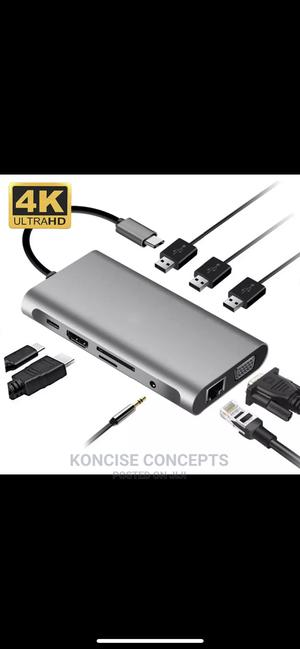 USB Type C Hub 10 in 1 | Accessories & Supplies for Electronics for sale in Lagos State, Lekki