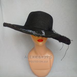 Women's Beach Hat With Adjustable Straps - Black | Clothing Accessories for sale in Abuja (FCT) State, Kubwa