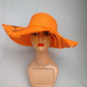 Women's Beach Hat With Adjustable Straps - Orange | Clothing Accessories for sale in Abuja (FCT) State, Kubwa