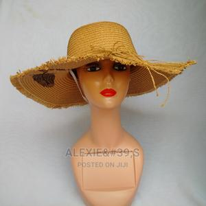 Women's Beach Hat With Adjustable Straps - Brown | Clothing Accessories for sale in Abuja (FCT) State, Kubwa