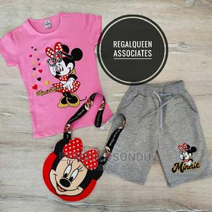 Pinktop and Ash Shorts With Bag | Children's Clothing for sale in Imo State, Owerri