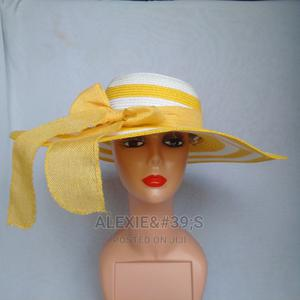 Rainbow Beach Hat for Women - White and Yellow | Clothing Accessories for sale in Abuja (FCT) State, Kubwa