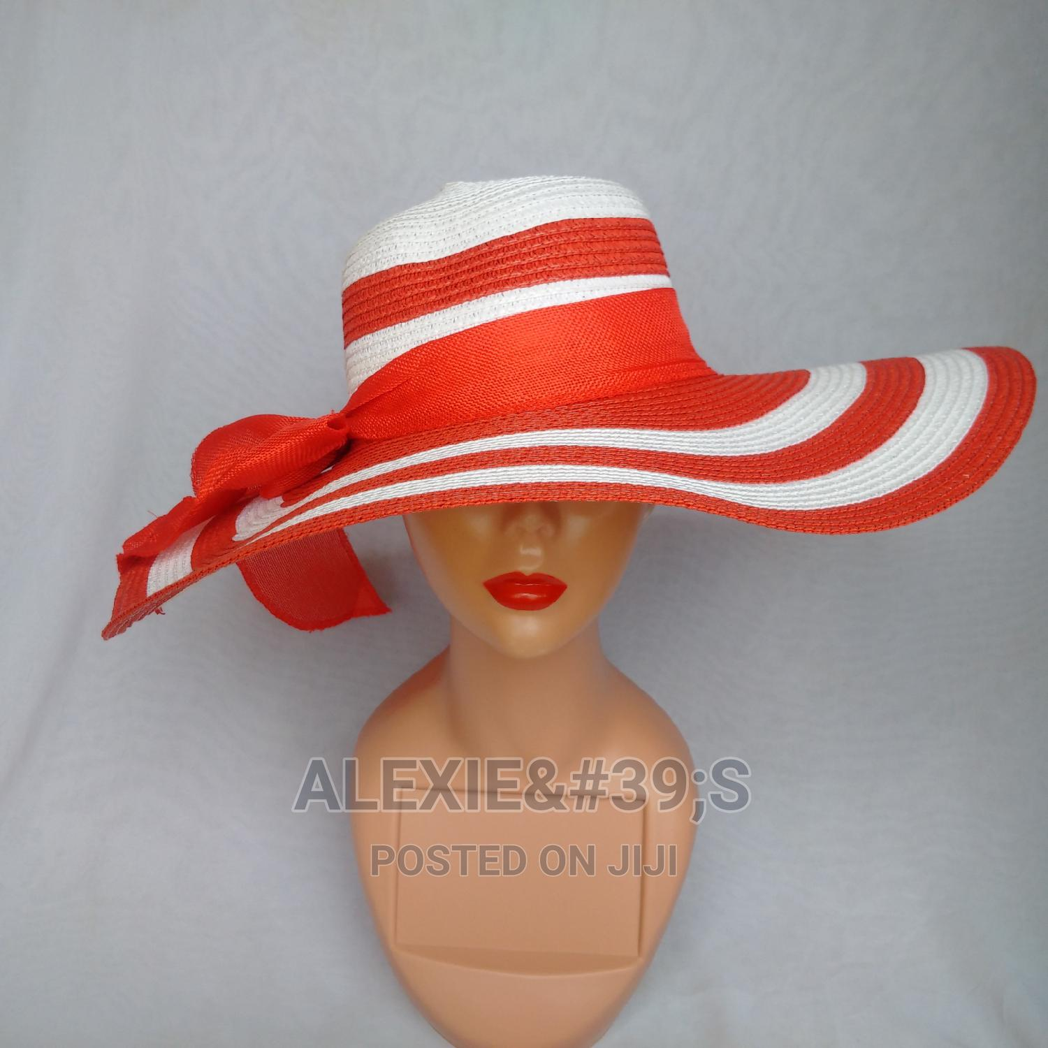 Rainbow Beach Hat for Women - White and Red | Clothing Accessories for sale in Kubwa, Abuja (FCT) State, Nigeria
