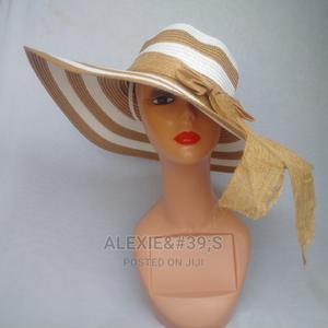 Rainbow Beach Hat for Women - White and Brown | Clothing Accessories for sale in Abuja (FCT) State, Kubwa