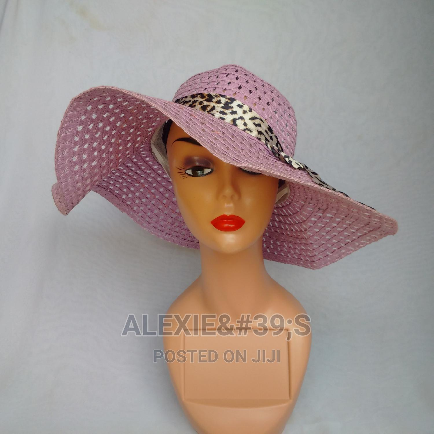 Net Beach Hat for Women - Mauve | Clothing Accessories for sale in Kubwa, Abuja (FCT) State, Nigeria
