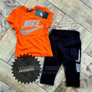 Girls Orange Top and Black Knee Length Trouser | Children's Clothing for sale in Imo State, Owerri