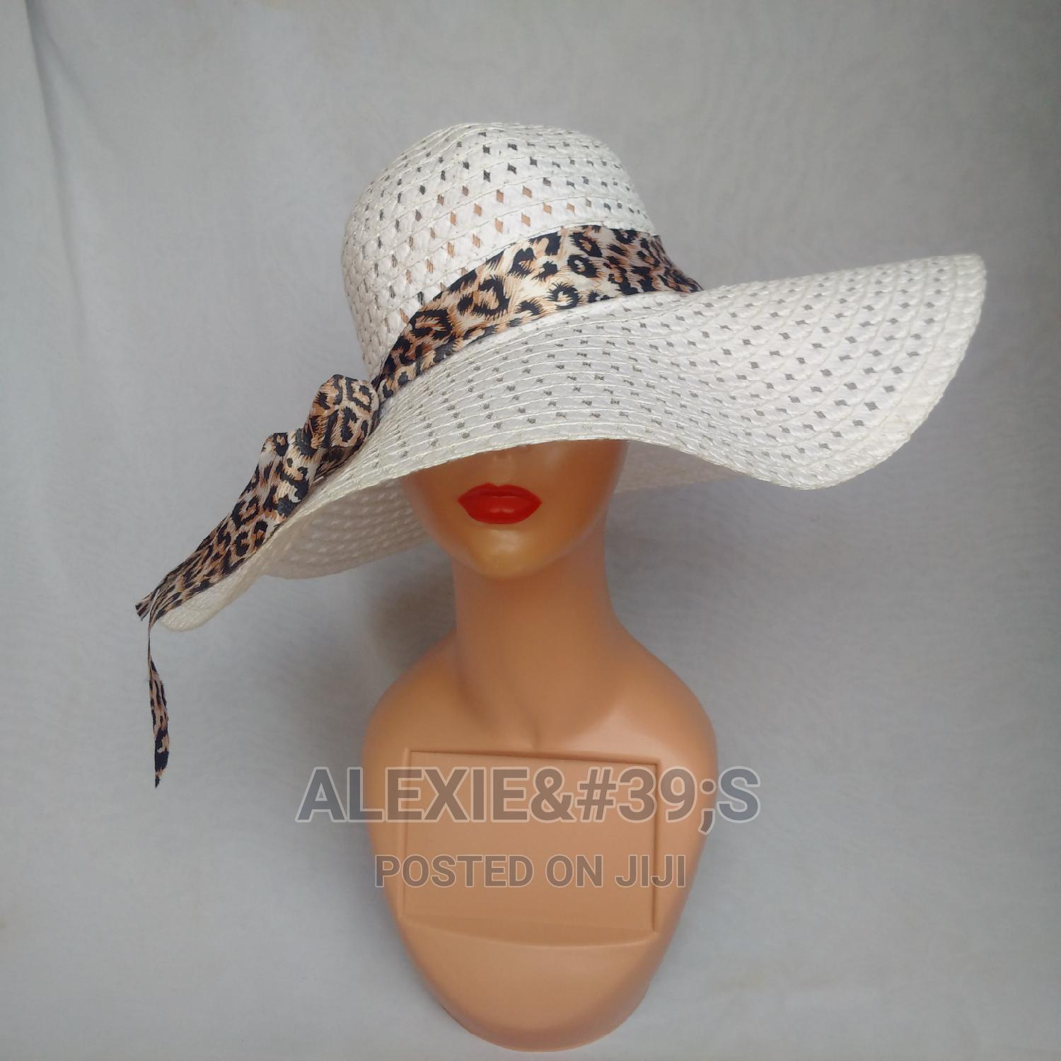 Net Beach Hat for Women - White   Clothing Accessories for sale in Kubwa, Abuja (FCT) State, Nigeria