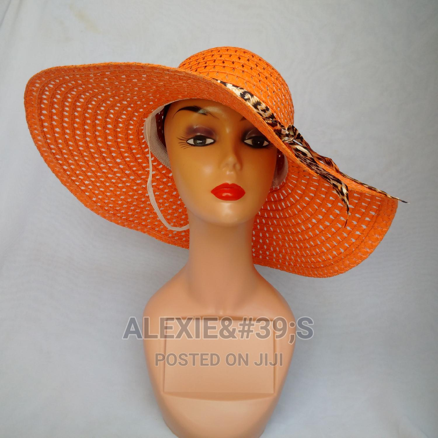 Net Beach Hat for Women - Orange | Clothing Accessories for sale in Kubwa, Abuja (FCT) State, Nigeria