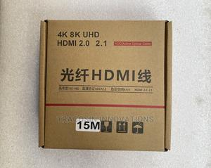 4K HDMI Cable AOC Active Optic Fibre 15m | Accessories & Supplies for Electronics for sale in Lagos State, Yaba
