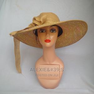 Wide Brim Stone Hat for Women - Brown   Clothing Accessories for sale in Abuja (FCT) State, Kubwa