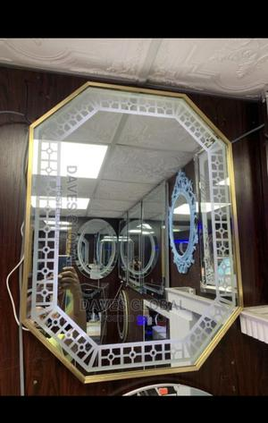 Quality Gold Frame Mirror With LED Light   Furniture for sale in Lagos State, Orile