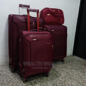 Polyester Swiss Polo Trolley Luggage Oxblood Red Bag   Bags for sale in Lagos State, Ikeja