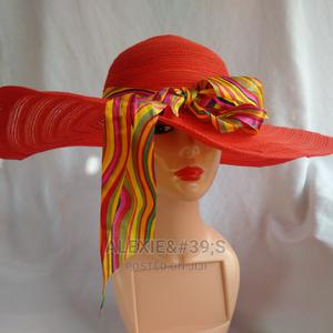 Women's Wide Brim Beach Hat - Red | Clothing Accessories for sale in Abuja (FCT) State, Kubwa
