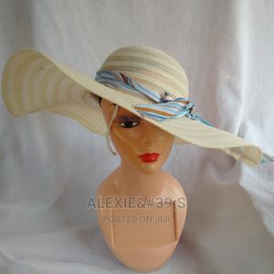 Women's Wide Brim Beach Hat - Cream Colour | Clothing Accessories for sale in Abuja (FCT) State, Kubwa