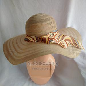 Women's Wide Brim Beach Hat - Caramel | Clothing Accessories for sale in Abuja (FCT) State, Kubwa