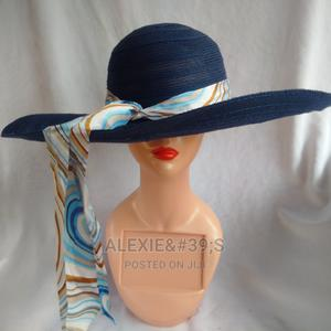 Women's Wide Brim Beach Hat - Blue | Clothing Accessories for sale in Abuja (FCT) State, Kubwa