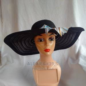 Women's Wide Brim Beach Hat - Black | Clothing Accessories for sale in Abuja (FCT) State, Kubwa