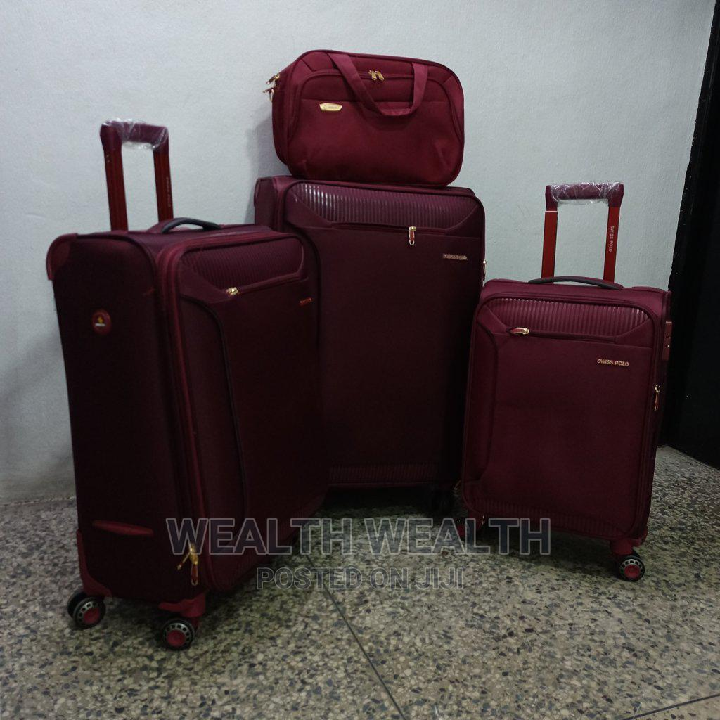 Portable Swiss Polo Trolley Luggage Red Bag