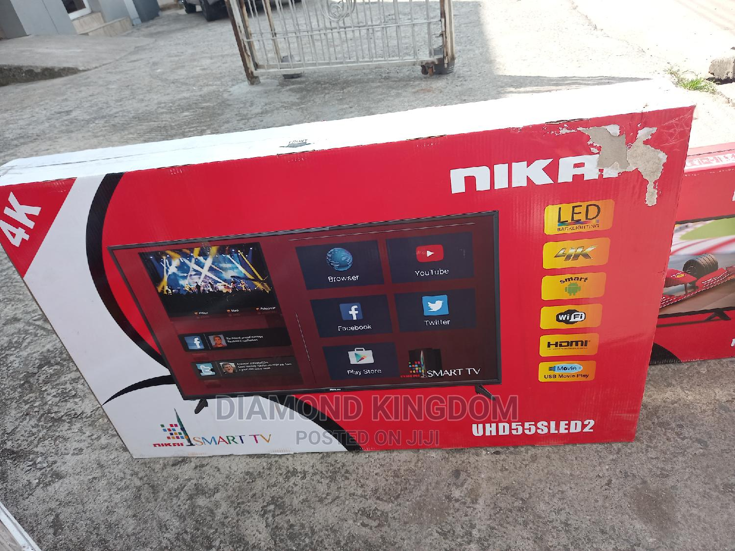 Nika Smart Led Television 2 Years Warranty | TV & DVD Equipment for sale in Mushin, Lagos State, Nigeria