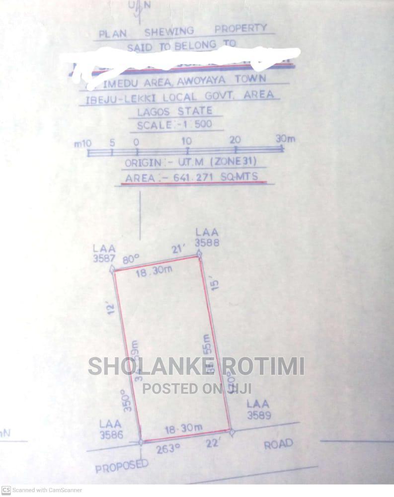 Archive: Land Receipt and Survey Plan
