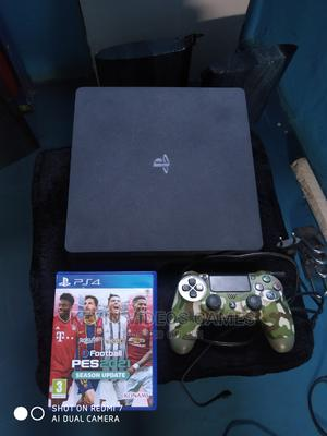 Ps4 Slim+Pes21 Disc/Works Perfect | Video Game Consoles for sale in Edo State, Benin City
