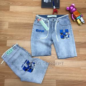 Offwhite Jean Shorts | Clothing for sale in Lagos State, Alimosho