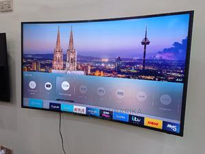 Samsung UE49KU6100 Curved Ultra HD HDR 4K Smart | TV & DVD Equipment for sale in Lagos State, Ojo