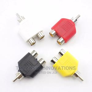 4pc Y Splitter AV Audio Video Plug 1male to 2 Female Adapter | Accessories & Supplies for Electronics for sale in Lagos State, Yaba