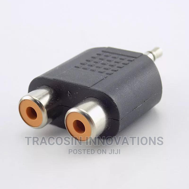 3.5m Jack Stereo AUX Male to 2RCA Female Audio Cable Adapter | Accessories & Supplies for Electronics for sale in Yaba, Lagos State, Nigeria
