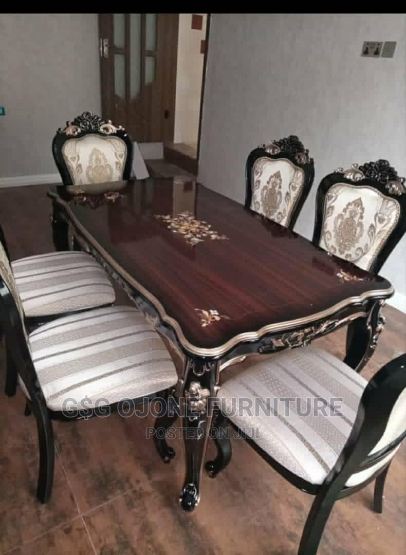 Cream Royal Wooden Dinning Table | Furniture for sale in Lekki, Lagos State, Nigeria
