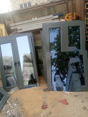 Aluminum Casement Windows With Gray Material and Gray Glass | Windows for sale in Abuja (FCT) State, Jabi