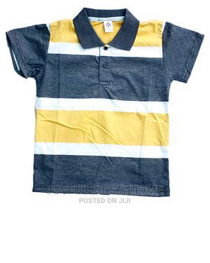 Boys Short Sleeve Collar Neck -Yellow,Orange,Green Multi | Children's Clothing for sale in Lagos State, Ojota