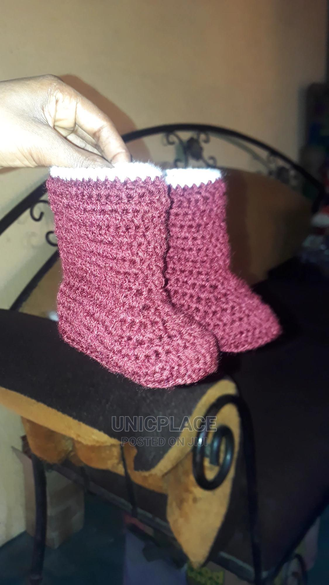 Archive: Hand Knitted Baby Gown With Boot and Headband