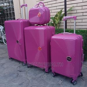 Affordable Pink Swiss Polo Trolley Luggage Suitcase Bag | Bags for sale in Lagos State, Ikeja