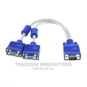 VGA Cable Splitter 1 in 2 Out - 2 Way | Accessories & Supplies for Electronics for sale in Lagos State, Yaba