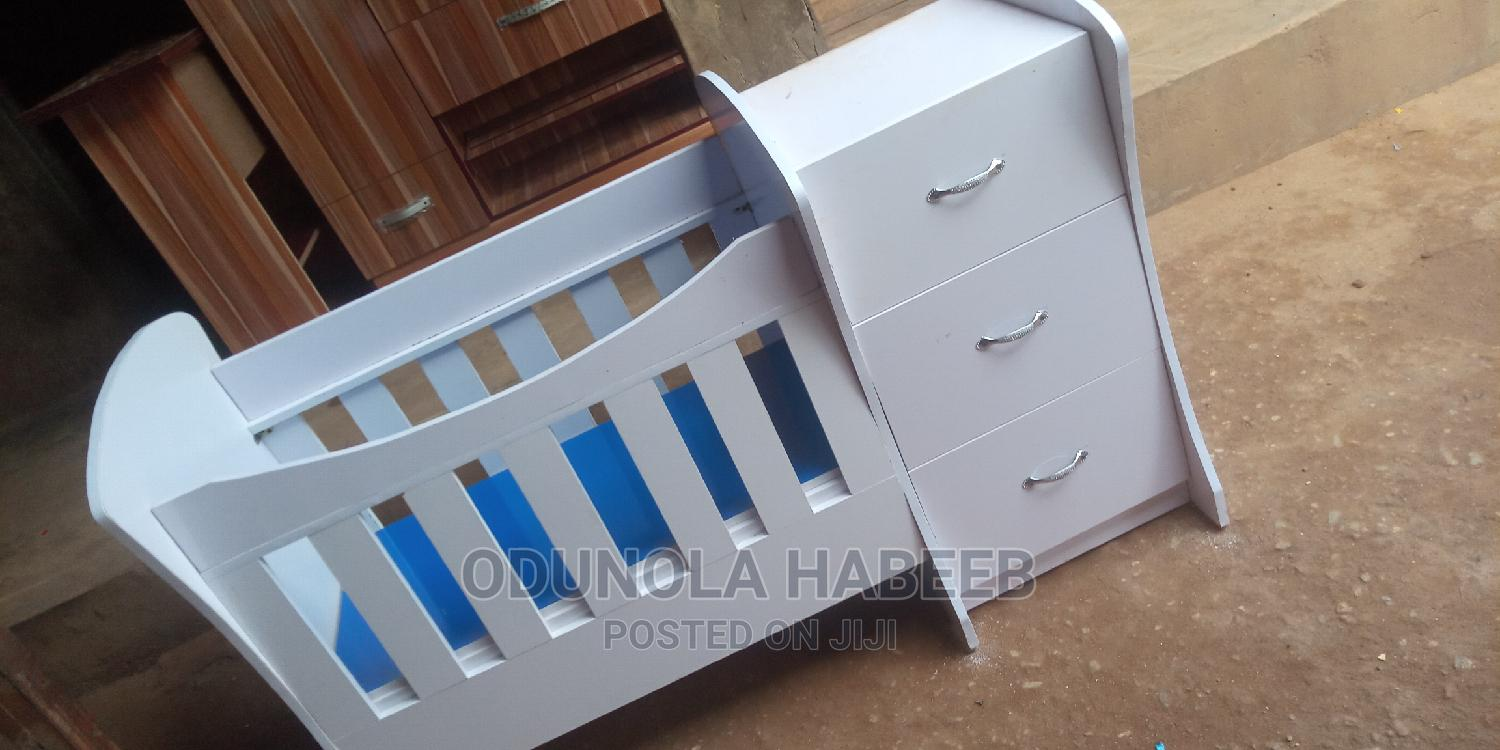 Baby Cot With Baby Bed   Children's Furniture for sale in Ado-Odo/Ota, Ogun State, Nigeria