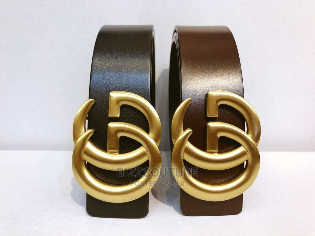 High Quality Gucci Black Leather Belts Available for Sale   Clothing Accessories for sale in Magodo, Lagos State, Nigeria