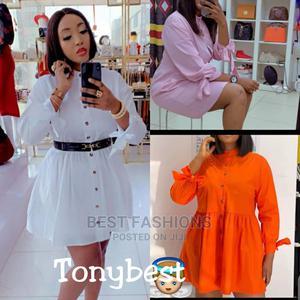Smart Ladies White Long Sleeve Short Dress   Clothing for sale in Lagos State, Ikeja