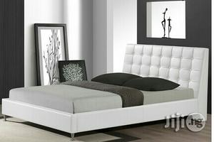 Upholstered Leather Platform Bed 4.5ft X 6ft | Furniture for sale in Lagos State, Ikeja