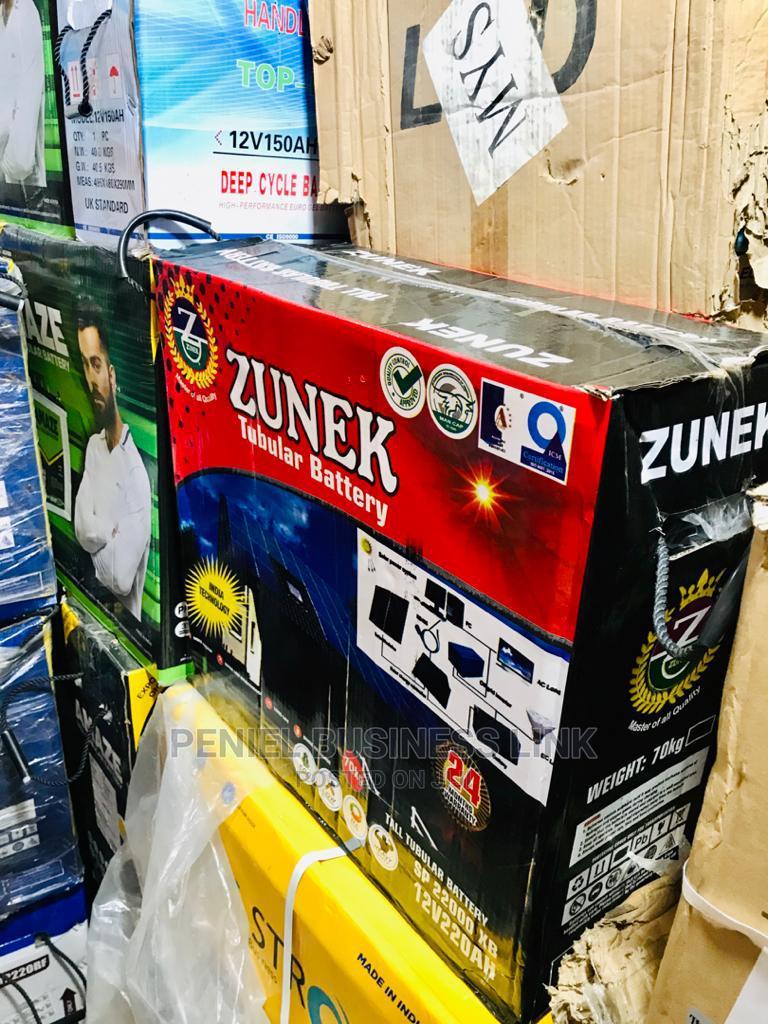 Zunek 220ah 12v Tubular Battery   Solar Energy for sale in Ojo, Lagos State, Nigeria