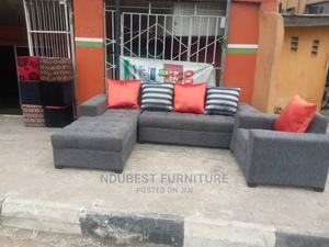Beautiful L Shape Sofa Chair With Single Chair   Furniture for sale in Lagos State, Ikeja
