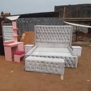 6/6 Upholstery Padded Bed Frame 2bedside and Footrest, | Furniture for sale in Lagos State, Lekki