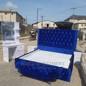 6/6 Upholstery Padded Bed Frame With Two Bedside and Footres | Furniture for sale in Lagos State, Ajah
