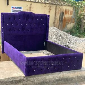 6/6 Upholstery Padded Bed Frame With Two Bedside and Footre | Furniture for sale in Lagos State, Ajah