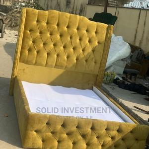 6/6 Upholstery Padded Bed Frame | Furniture for sale in Lagos State, Lekki