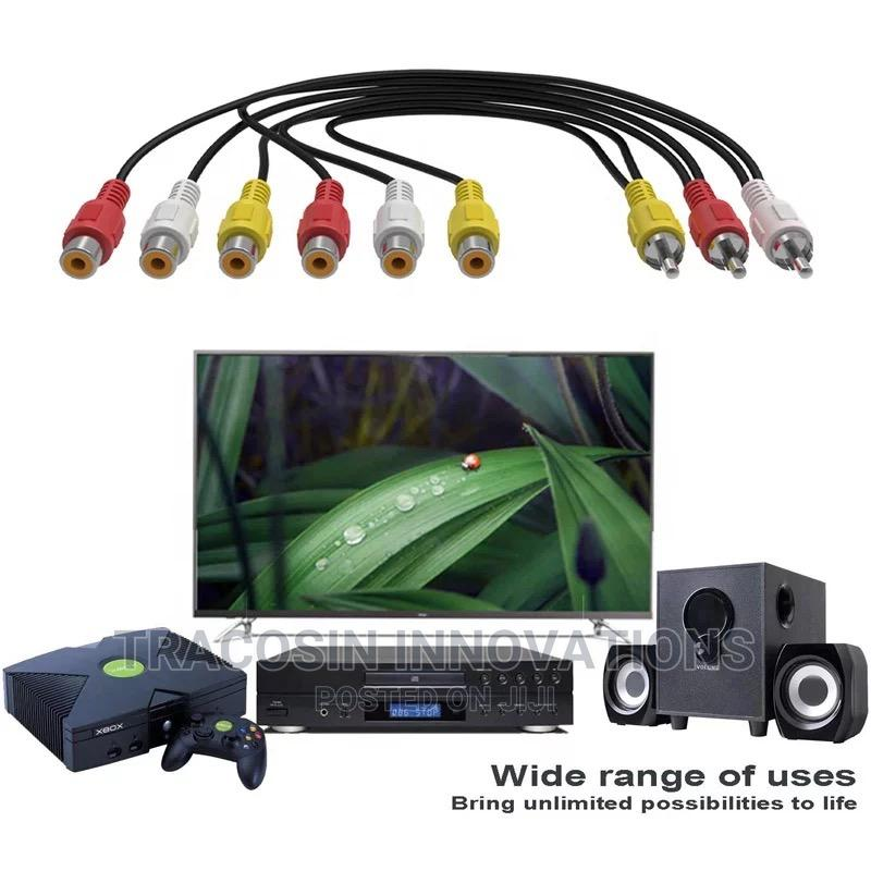 AV Audio Video Y Splitter Cable 2 Way   Accessories & Supplies for Electronics for sale in Yaba, Lagos State, Nigeria
