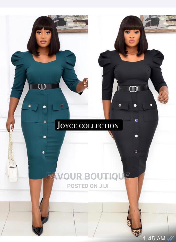 Archive: Ladies Fitted Short  Gown with Waist Belt