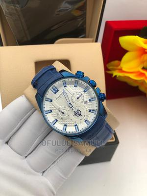 Cartier Chronograph Leather Wristwatch   Watches for sale in Lagos State, Surulere